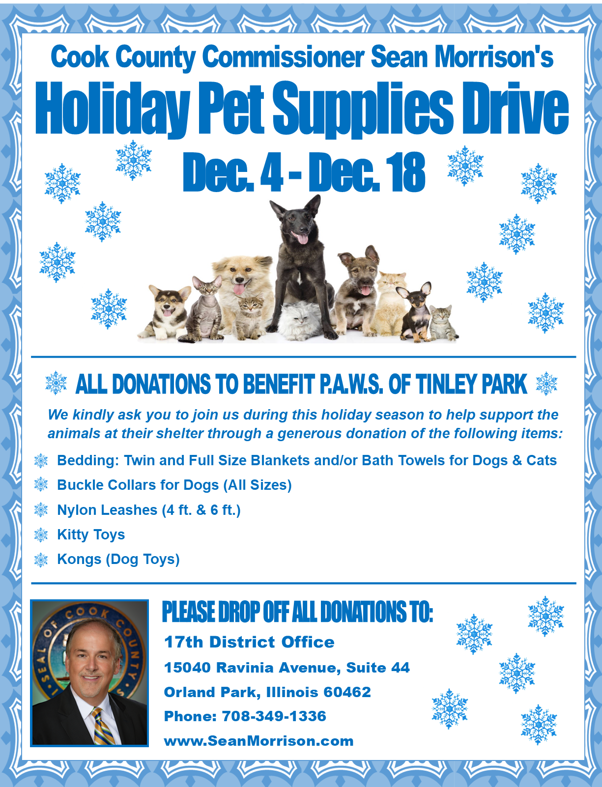 Holiday Pet Supplies Drive 2020